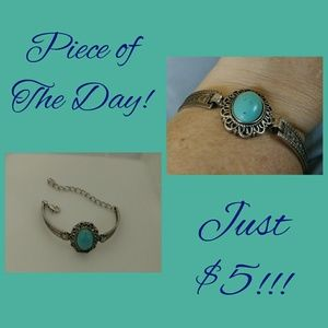 Piece of the Day! Small Oval Turquoise Bracelet
